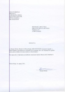 Izjava nezavisnog vijećnika Renata Brešana