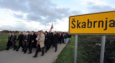 Obavijest o otkazu posjeta Škabrnji