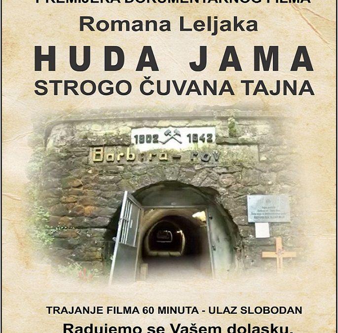 """NAJAVA: Prikazivanje dokumentarnog filma """"Huda jama – strogo čuvana tajna"""" u Marini"""