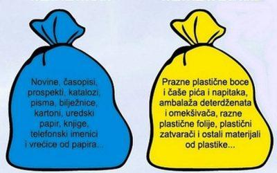 Obavijest o odvozu razvrstanog otpada